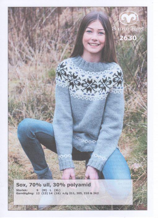 Sox 70% ull 30% polyamid Dam Tröja Svarta Fåret Garntorget 2630