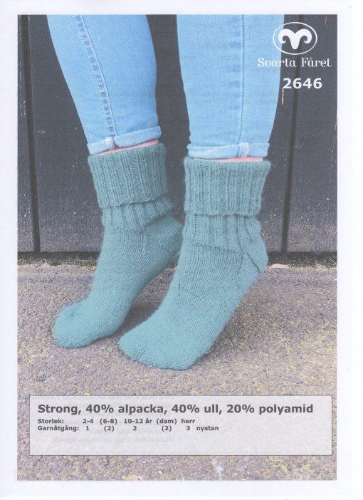 Strong 40% alpacka 40% ull 20% polyamid Sockor Svarta Fåret Garntorget 2646442