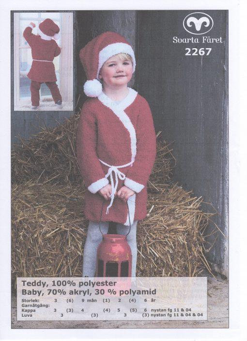 Teddy 100% polyester Tomtekappa och Luva Svarta Fåret Garntorget 2267469