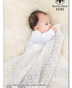 Baby Merino Babyfilt extra fine 100% merinull - 1131 Garntorget Svarta Fåret
